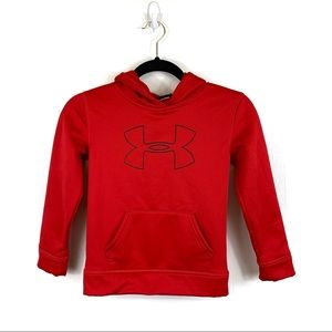 Under Armour Boy's Red Logo Hoodie Size 7